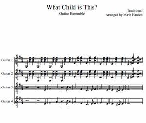 What Child is This? (Guitar Ensemble)