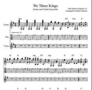 We Three Kings (Guitar and Violin Ensemble)