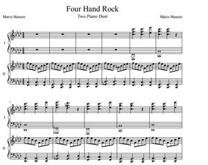 Four Hand Rock (Two Piano Duet)