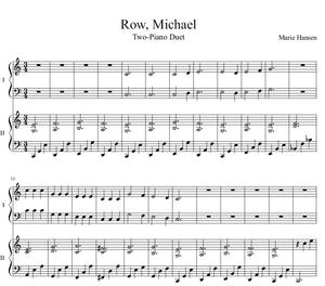 Row, Michael (Two Piano Duet)