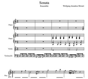 Sonata (Piano and String Ensemble)