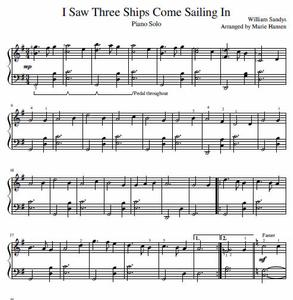 I Saw Three Ships (Piano Solo)