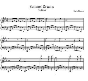 Summer Dreams (Piano Solo)