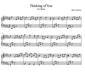Thinking of You (Piano Solo)
