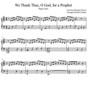 We Thank Thee, O God, for a Prophet (Piano Solo)