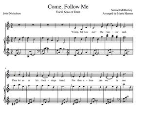 Come, Follow Me - Vocal Solo or Duet