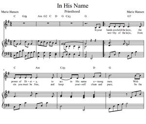 In His Name (Vocal Solo)