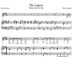 The Legacy (Vocal Solo with Piano accompaniment)