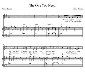 The One You Need (Vocal Solo with Piano accompaniment and Guitar chords)