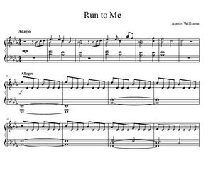 Run to Me (Piano Solo)