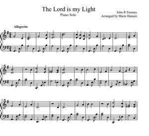 The Lord is my Light (Piano Solo)