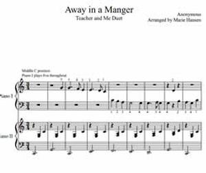 Away in a Manger (Teacher and Me Piano Duet)