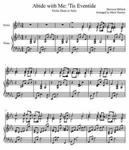 Abide with Me: 'Tis Eventide (Violin Duet or Solo)